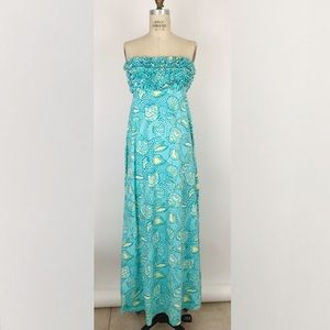 Lilly Pulitzer ruffle strapless maxi stretch dress